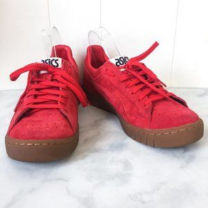 Asics Gel PTG Red Suede Sneakers size 7.5